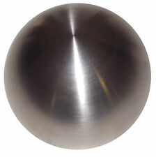 """Brushed Stainless Steel Heavy weight 2"""" shift knob M12x1.50 12x1.5 thrd"""