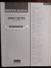 Sansui T707/707L tuner service repair workshop manual (original copy)
