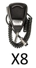 LOT OF 8 NEW ASTATIC 636L NOISE CANCELING MICROPHONES 4 PIN 302-10001