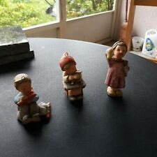 Goebel/Hummel Lot of 3 Christmas miniature ornaments Exc condition
