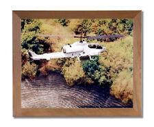USMC Marine Cobra Helicopter Wall Picture Honey Framed Art Print