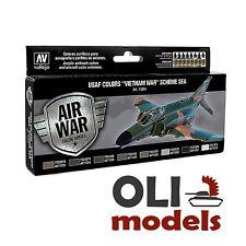 AIR WAR USAF Colors VIETNAM WAR Scheme SEA Paint Set 8x17ml - Vallejo 71204