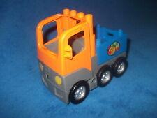 LEGO DUPLO VILLE EISENBAHN LKW WELTKUGEL + AUFSATZ für WAGGON aus 5609 Orange