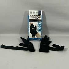 Copper Fit Gloves Small/Medium Black Hand Relief Compression Gloves