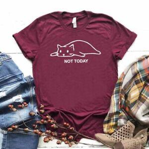 Not Today || Cute Slack Cat Printed Unisex Tshirt Top || XS-XL & Kids Sizes ||