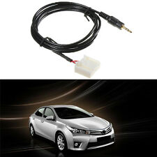 Jack 3.5mm Car Aux Cable MP3 Audio Adapter phone Plug Fit Toyota Corolla Camry