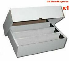 1 x Cardboard 3200ct Trading Card Storage Box with Lid - Holds up to 3200 Cards