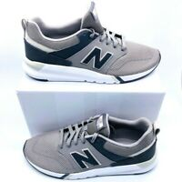 New Balance Mens 009 Sneakers Gray Black MS009GM1 Lace Up Low Top Mesh 11 D New