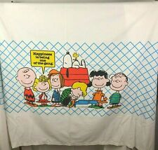 1978 Peanuts Twin Flat Sheet Happiness Is Being One of Gang Snoopy Charlie Brown