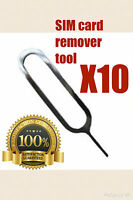 10 x Sim Card Tray Eject Pin Key Tool for Apple iPhone 3GS 4S 5 5S 6 Plus iPad..