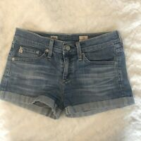 AG Adriano Goldschmied Womens Size 25 Pixie Roll Up Blue Jean Shorts