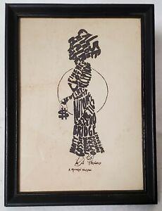 Vintage Antique Original Pen & Ink Drawing SATIRE OF MODERN WOMAN F. Brainard