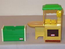 Vtg Little Tikes Miniature Dollhouse Furniture kitchen island & toy chest