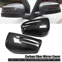 Carbon Fiber Rearview Mirror Cover For Mercedes Benz CLA GLA W212 W221 W204