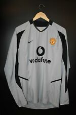 MANCHESTER UNITED  2002-2004 OFFICIAL GOALKEEPER JERSEY SIZE M (EXCELLENT)