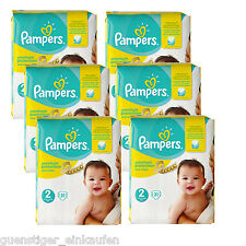 6x 31 = 186 Pampers Premium Protection New Baby Größe 2 Windeln 3-6 kg Diapers