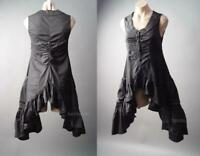 Black Ruffle Handkerchief Gothic Lolita Tailcoat Dress Shirt 297 mv Blouse S M L