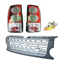 LAND ROVER DISCOVERY 3 CLEAR LED TAIL LIGHTS & DISCO 4 FRONT GRILLE UPGRADE KIT