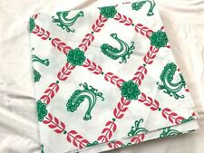 Vintage Novelty Print/Home Dec Fabric Red/Green Chickens Roosters Klopman Mills