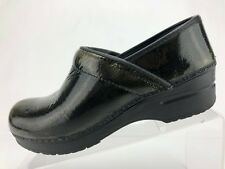 Sanita Original Clogs Green Patent Leather Metallic Slip On Womens 39 US 8/8.5