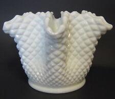 Vintage Westmoreland Milkglass Handerchief Vase Ruffled Lip White 5 to 6 Inch
