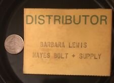 Rare Vintage Nametag Trade Show Distributor Pin Button Hayes Bolt & Supply