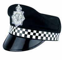 New Policeman Cap Peak Police Cop Hat For Adult Fancy Dress Costume Accessory