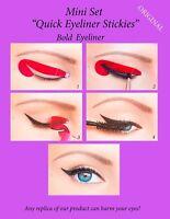 Quick Eyeliner Stickies Stencils Eye Makeup Tool STARTER SET 12 pcs ORIGINAL UK1