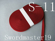 10 M TOP GRADE DARK RED SILK TSUKA ITO - JAPANESE KATANA WAKIZASHI TANTO SWORD