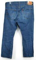 Levis Mens 501 2916 Dark Blue Button Fly Straight Leg Light Denim Jeans 40 x 30