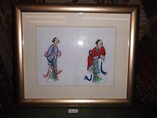 1. Japanische Reispapier Malerei um 1900 Asiatika Japan