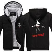 The Joker Hoodie Thicken Warm Sweatshirt Winter Fleece Jacket Men's Coat Top