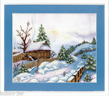 EMBROIDERY KIT EMBELLISHED STITCH KIT CRYSTAL ART WARM WINTER VILLAGE BT-513