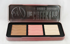 W7 The CHEEKY Trio Bronzer Blusher Highlighter Palette, Face Form Contouring Kit