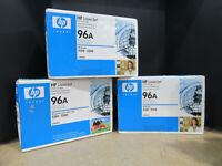 Lot of 3 NEW Genuine HP 96A Laserjet Black Printer Toner Cartridge C4096A SEALED