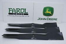 More details for genuine john deere blades m143520 uc22010 54c deck ride-on mower set of 3