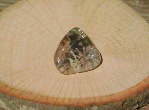 Lodolite Scenic World Clear Quartz Crystal Shamanic Dreamstone with Gold Rutile