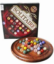Wooden 2 players Solitaire Vintage Board & Traditional Games