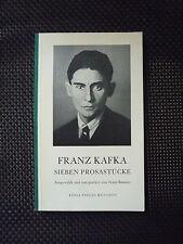 Franz Kafka - Sieben Prosastücke