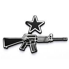 """Come and Take It"" Pro 2nd Amendment AR-15 Style Chrome Plated Car Emblem (CB)"