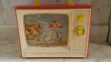 FISHER PRICE GIANT SCREEN MUSIC BOX TV #114 1966 TWO TUNES