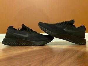 Nike Epic React Flyknit Triple Black Running Shoes Men's 15 AQ0067-003
