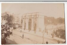 London; Marble Arch RP PPC 1908 PMK, By Photochrom, Animated Street Scene