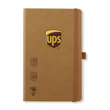 UNITED PARCEL SERVICE UPS BROWN 240 PAGE HERITAGE SYNTHETIC LEATHER NOTEBOOK