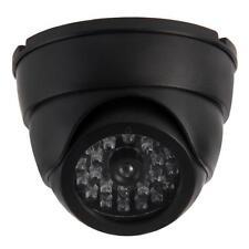LED Flashing Dome Dummy Home CCTV Security Camera Surveillance Waterproof Black