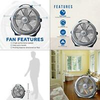 20 in. 3 speed floor fan | lasko wind machine cooling gray new speeds blade span
