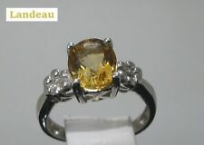 2.2 ct Citrine Oval Gold On Silver Ring