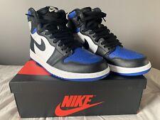 "Air Jordan 1 Retro High OG ""Royal Toe"" Black/White-Game Royal-Black Size 9.5"