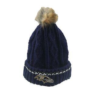 Baltimore Ravens NFL Youth Girls (7-16) OSFM Winter Knit Beanie Hat Cap New