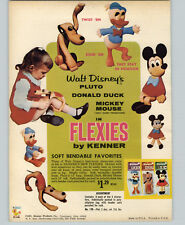 1967 PAPER AD Kenner's Toy Flexies Pluto Mickey Mouse Donald Duck Dolls